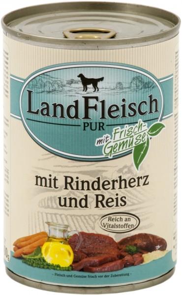 Landfleisch Pur Rinderherzen & Reis 400g