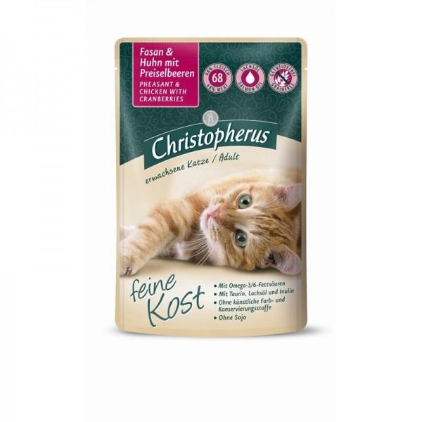 Christopherus Katze Pouch Adult - Fasan + Huhn mi