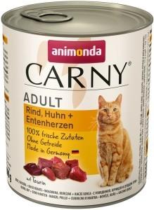 Animonda Cat Dose Carny Adult Rind, Huhn + Entenherzen 800g