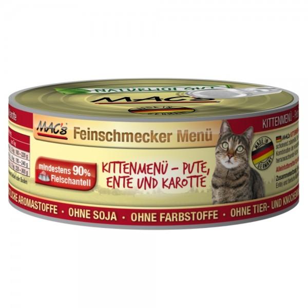 Macs Cat Kitten Ente, Pute & Karotten 100g Dose