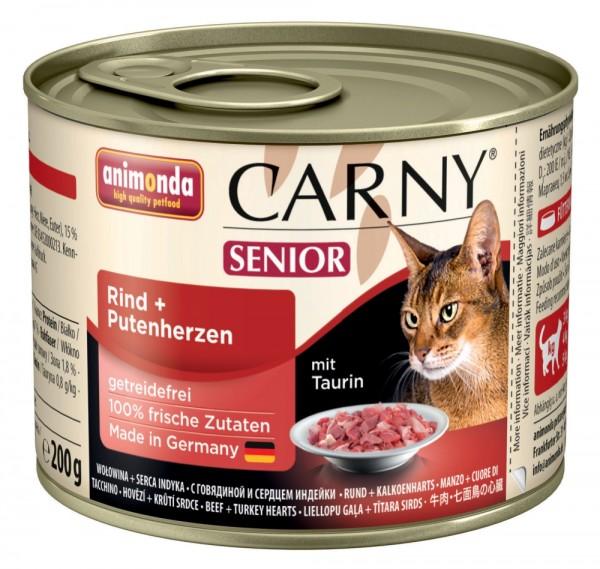 Animonda Cat Dose Carny Senior Rind & Putenherzen 200g