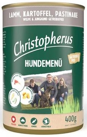 Christopherus Hundemenü -Junior - mit Lamm, Kartoffel, Pa