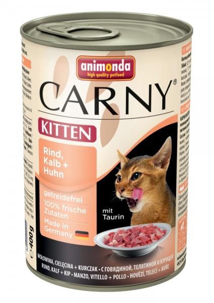 Animonda Cat Dose Carny Kitten Rind & Kalb & Huhn 400g