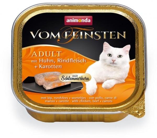 Animonda Cat Vom Feinsten mit Schlemmerkern mit Huhn, Rindfleisch & Karotten 100