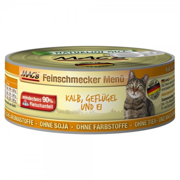 Macs Cat Kalb, Geflügel & Ei 100g Dose