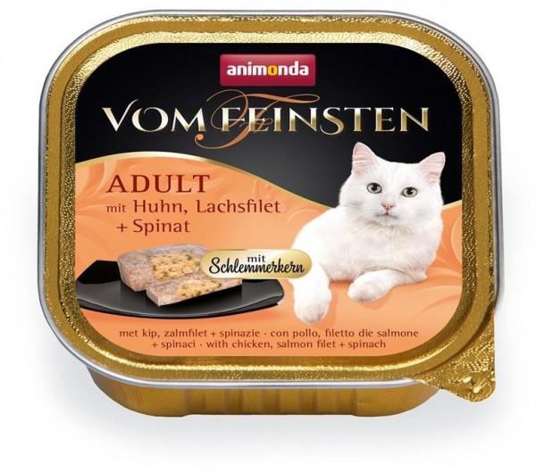 Animonda Cat Vom Feinsten mit Schlemmerkern mit Huhn, Lachfilet & Spinat 100g