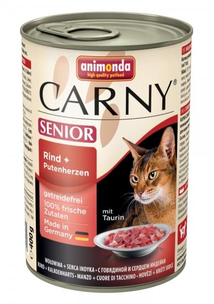 Animonda Cat Dose Carny Senior Rind & Putenherzen 400g