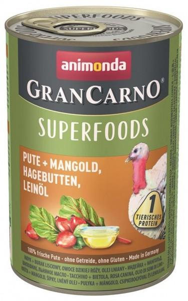 Animonda Dog Dose GranCarno Adult Superfood Pute + Mangol