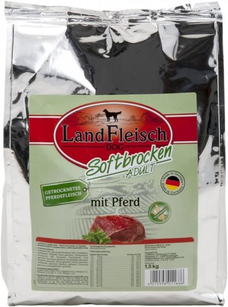 Landfleisch Dog Softbrocken mit Pferd getreidefre