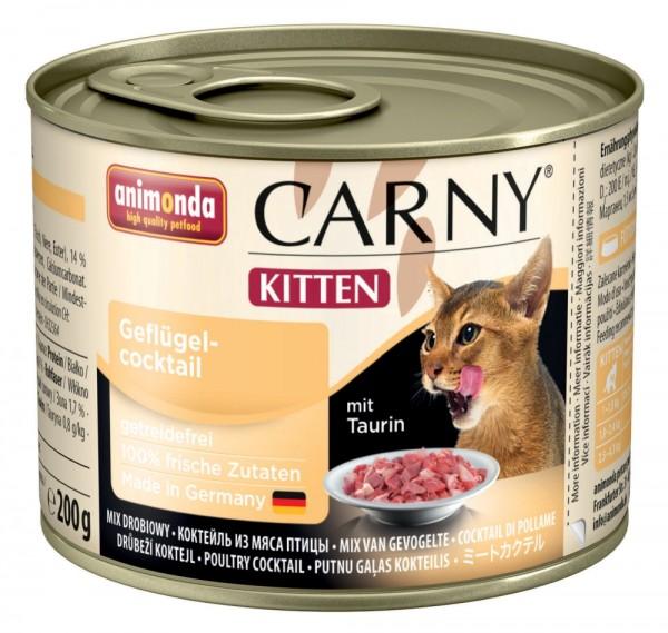 Animonda Cat Dose Carny Kitten Geflügelcocktail 200g
