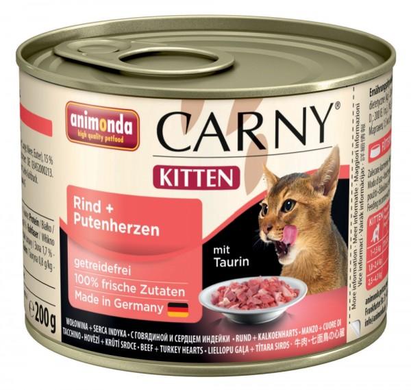 Animonda Cat Dose Carny Kitten Rind & Putenherzen 200g