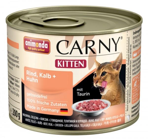Animonda Cat Dose Carny Kitten Rind & Kalb & Huhn 200g