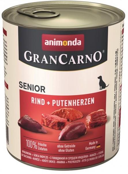 Animonda Dog Dose GranCarno Senior Huhn & Putenherzen 800g Dose
