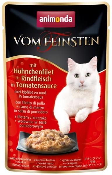 Animonda Cat Portionsbeutel vom Feinsten mit Hühnchenfilet & Rindfleisch in Toma
