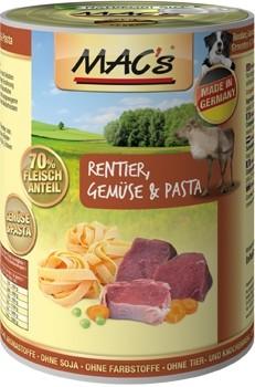 Macs Dog Rentier, Nudeln & Gemüse 400g Dose
