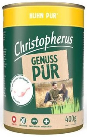 Christopherus Pur Huhn 400g-Dose