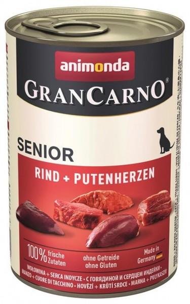 Animonda Dog Dose GranCarno Senior Huhn & Putenherzen 400g