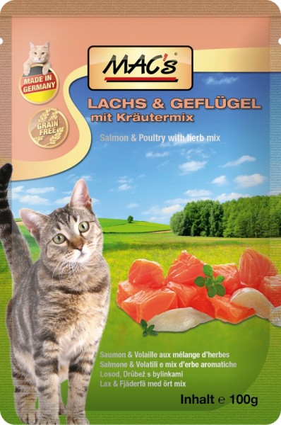 Macs Cat Lachs & Preiselberren 100g Frischebeutel