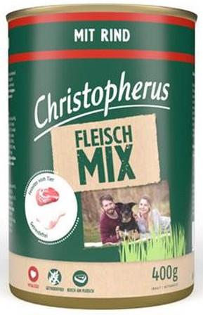 Christopherus Fleischmix - mit Rind 400g-Dose