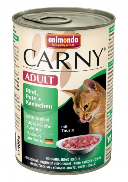Animonda Cat Dose Carny Adult Rind & Pute & Kaninchen 400g