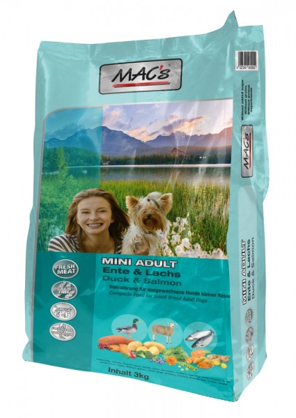 MACs Adult Mini Ente, Lamm, Lachs 3 kg