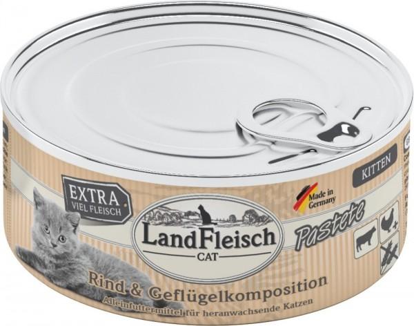 LandFleisch Cat Kitten Pastete Rind+Geflügelkomposition 1