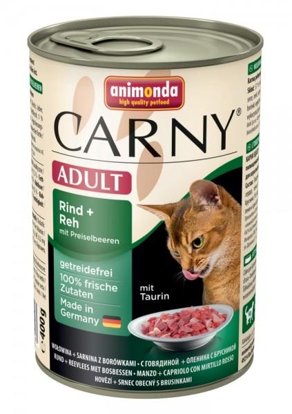 Animonda Cat Dose Carny Adult Rind & Reh & Preiselbeeren 400g