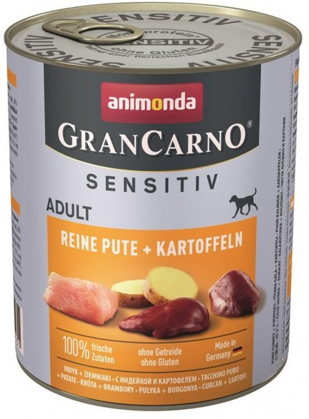 Animonda GranCarno Adult Sensitive Pute+ Kartoffe
