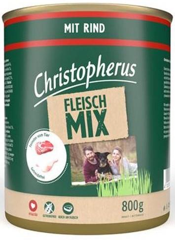 Christopherus Fleischmix - mit Rind 800g-Dose