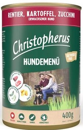 Christopherus Hundemenü -Adult - mit Rentier, Kartoffel,