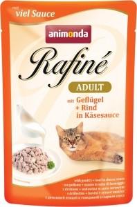 Animonda Cat Portionsbeutel Rafine Rind + Nudeln in Tomatensauce 100g