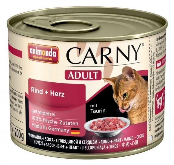 Animonda Cat Dose Carny Adult Rind & Herz 200g