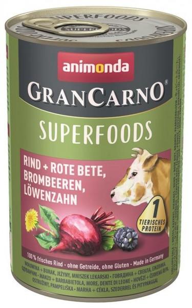 Animonda Dog Dose GranCarno Adult Superfood Rind+Rote Bee