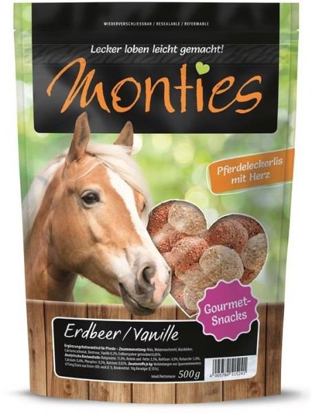 Monties Erdbeer & Vanille Snacks 500g