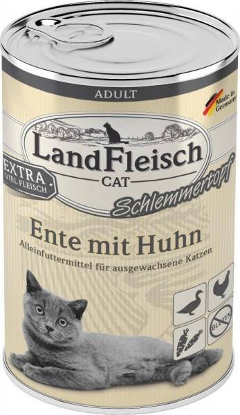LandFleisch Cat Adult Schlemmertopf mit Ente & Huhn 400 g