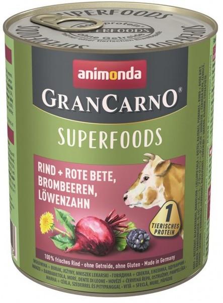 Animonda Dog Dose GranCarno Adult Superfood Rind + Rote B