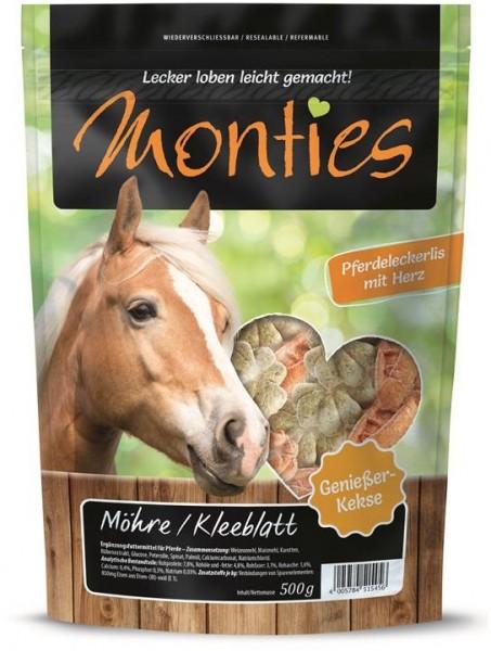 Allco Monties Pferde Snack Möhre Kleeblatt - geba