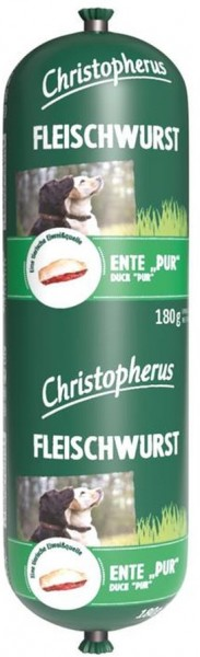 Christopherus Fleischwurst - Ente Pur 180g