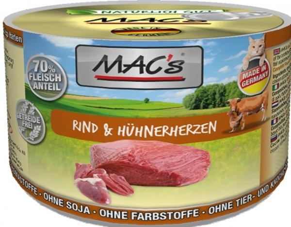Macs Cat Rind & Hühnerherz 200g Dose
