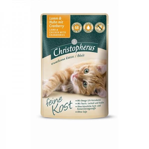 Christopherus Katze Pouch Adult - Lamm + Huhn mit