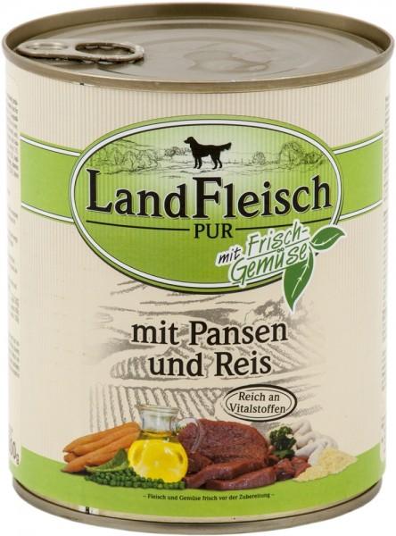 Landfleisch Pur Pansen & Reis 800g