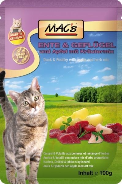 Macs Cat Ente & Apfel 100g Frischebeutel