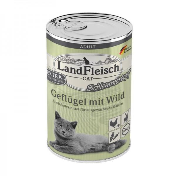 LandFleisch Cat Adult Schlemmertopf mit Geflügel & Wild 4