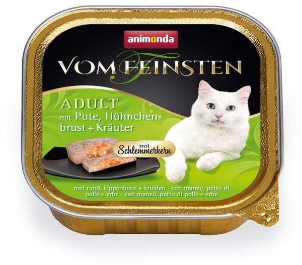 Animonda Cat Vom Feinsten mit Schlemmerkern mit Pute, Hühnchenbrust & Kräuter 10