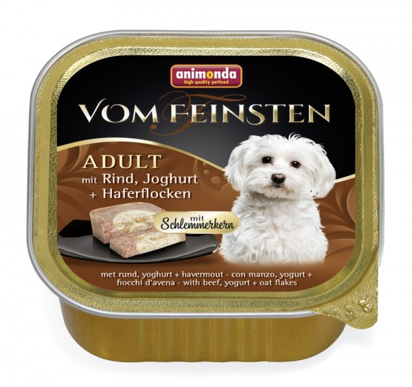 Animonda Dog Vom Feinsten Schlemmerkern mit Rind, Joghurt & Haferflocken 150g