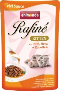 Animonda Cat Portionsbeutel Rafine Kitten Pute & Herz 100g