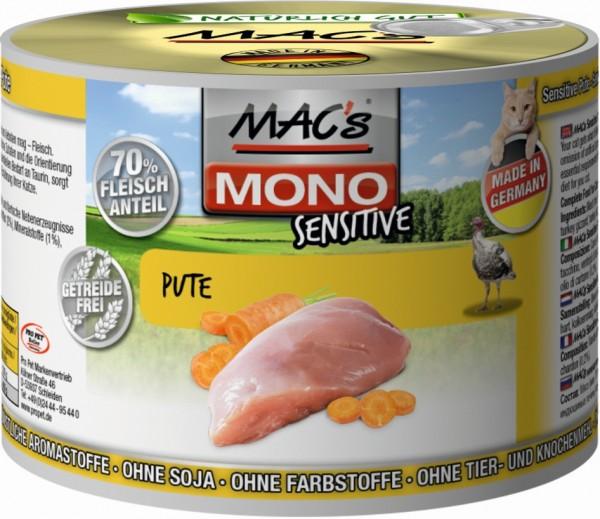 Macs Cat Sensitive Pute & Karotten 200g Dose