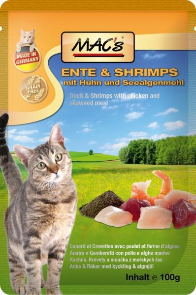 Macs Cat Ente & Shrimps 100g Frischebeutel