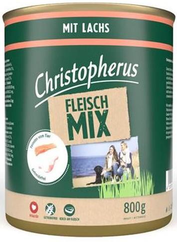 Christopherus Fleischmix - mit Lachs 800g-Dose