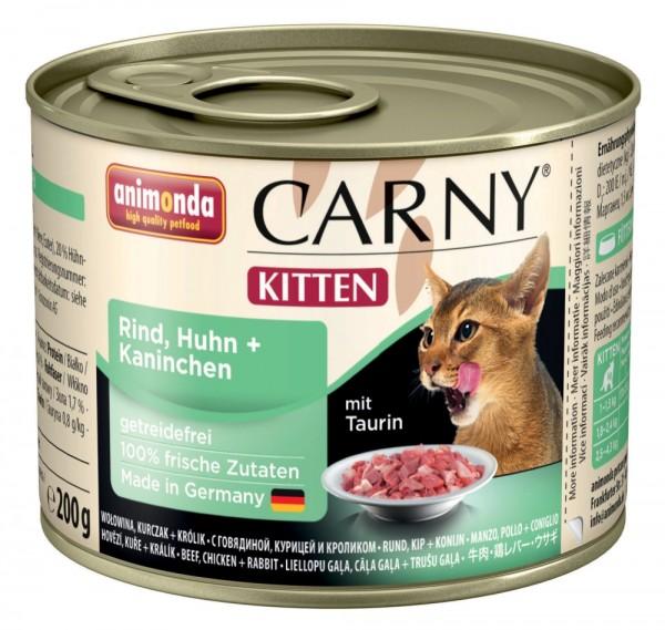 Animonda Cat Dose Carny Kitten Rind & Huhn & Kaninchen 200g